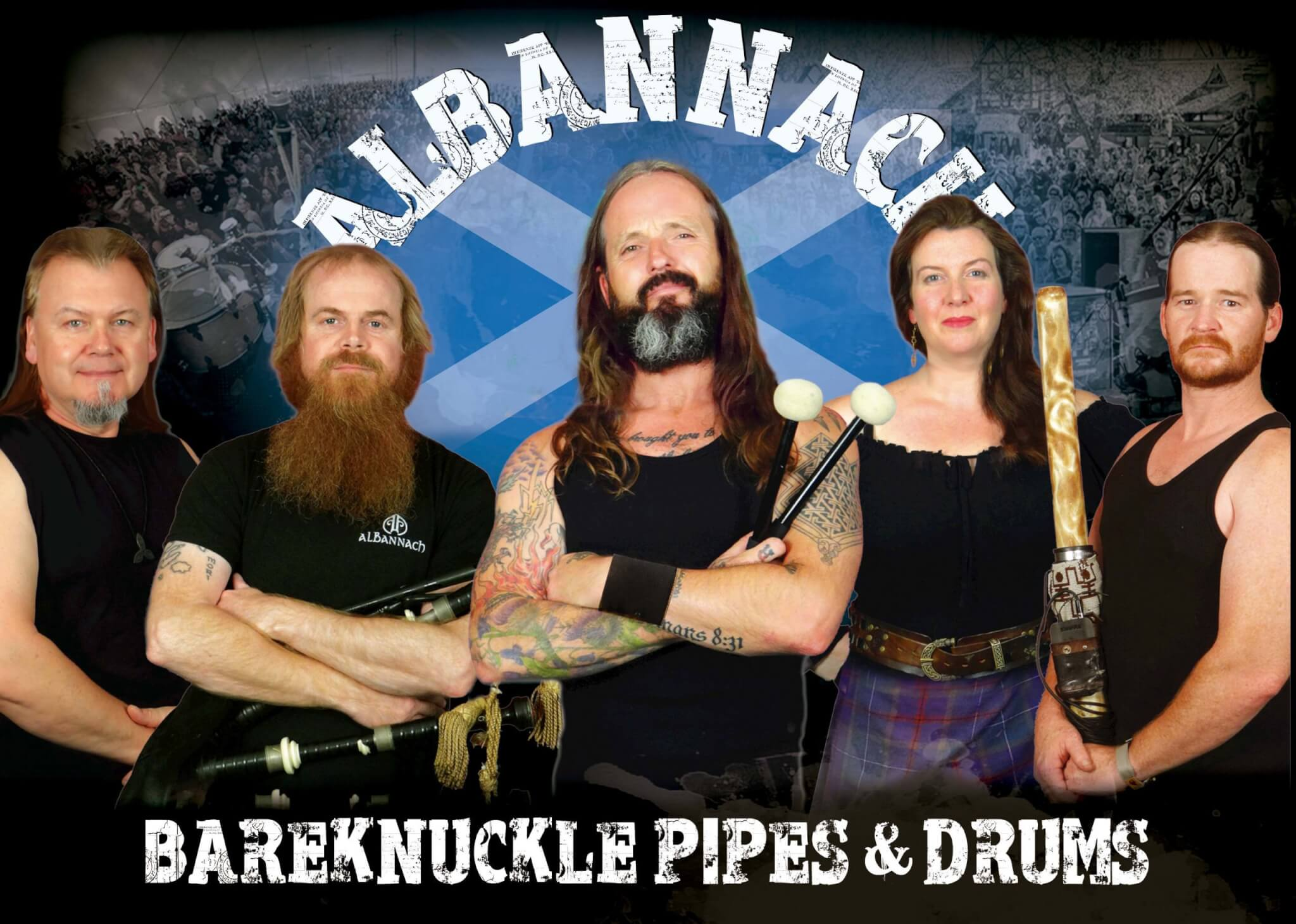 Albannach Bareknuckle Pipes & Drums band